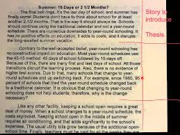 paragraph essay about summer summer vacation essay for school students