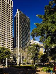 the privileged view of luxury hyde apartment building in exterior facade sydney australia apartment bedroom