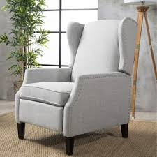 grey living room chair. wescott wingback fabric recliner club chair by christopher knight home grey living room u