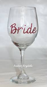 swarovski wine glass custom crystal bride wine glass bride glass bridesmaids mother of the bride weddings swarovski wine glass