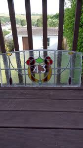 victorian stained glass panel above the front door no 43 1 of 3 see more