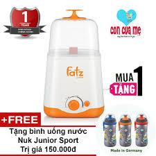 Máy hâm sữa và tiệt trùng 2 bình cổ rộng thế hệ mới Fatz Baby FB3012SL Tặng  bình uống nước Nuk Junior Cup giá rẻ 385.000₫
