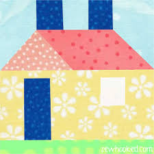 """Quilt Inspiration: Free pattern day! House quilts & Baby House quilt blocks, 5"""" square, free patterns by Quiltmaker (PDF  download) Adamdwight.com"""