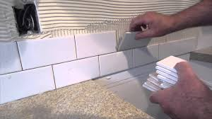 Diy Kitchen Tile Backsplash How To Install A Simple Subway Tile Kitchen Backsplash Youtube