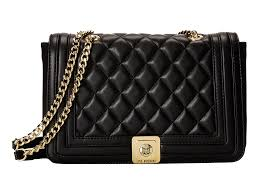 Lyst - Love moschino Quilted Flap Vers Crossbody Bag in Black & Gallery Adamdwight.com