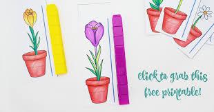 Preschool Weight Chart Free Flower Height Measurement Printable For Preschoolers