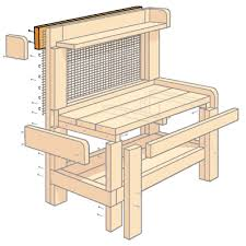 How To Build A Potting Bench  Bench Illustrations And GardensPlans For A Potting Bench