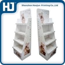 Teddy Bear Display Stands Gorgeous Colorful Teddy Bear Corrugated Display Floor Stand For Plush Toy