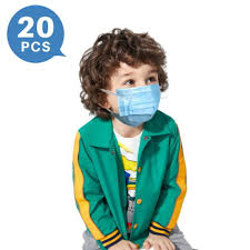 Blue 3-ply Disposable Face Mask for <b>Children</b> Ultra-soft Skin ...