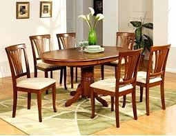 oval dining table set for 6 east west furniture c oval dining set with single pedestal