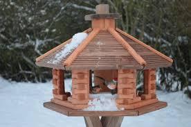 huge wooden bird feeder