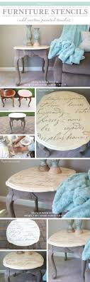 cutting edge furniture. a diy stenciled side table using the french poem allover stencil http cutting edge furniture