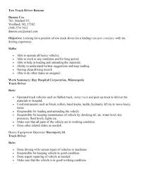 Cdl Truck Driver Job Description For Resume Awesome Water Truck