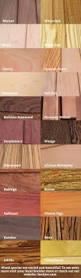 Wood Species Chart A Visual Guide To Wood Species To See More Visit A Local
