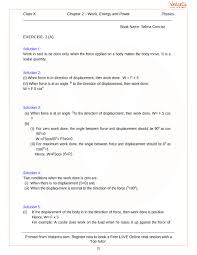 Work Energy And Power Solutions For Icse Board Class 10