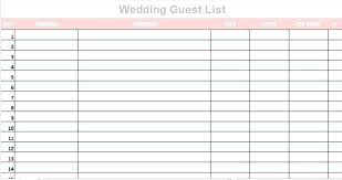 Free Guest List Mpla Invitation Excel Wedding Planning