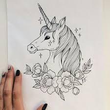 <b>Unicorn</b> tatoo   Çizimler, Drawing, Çizim fikirleri