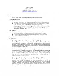 Restaurant Resume Example Restaurant Assistant Manager Resumes Doc Loz General Resume 81