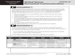 Verbal Versus Nonverbal Communication Lesson Plan For 6th