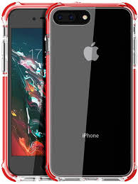 Amazon.com: iPhone 8 Plus case, iPhone 7 Plus Case, Mateprox Shield Series  Heavy Duty Protective High Clear PC Back Cover Soft Rubber TPU Bumper  Anti-Scratch Shockproof case for iPhone 7 Plus/8 Plus-Red