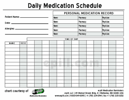 Daily Pill Chart Daily Medication Chart Printable Ronik