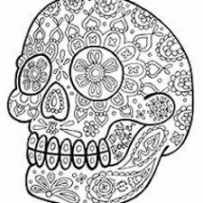 Small Picture Sugar Skull Coloring Pages Sugar skulls Sugar skull design and