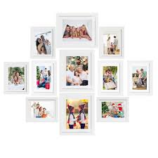voilamart picture frames set of 11 multi pack photo frame set wall gallery kit display three 8x10 in three 6x8 in five 5x7 in with wall template and