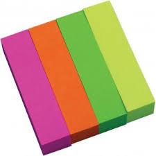 Индексные <b>стикеры</b> - разделители, бумажные с <b>липким</b> слоем, 4 ...