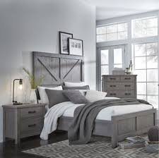 Gray Rustic Contemporary Nightstand - Austin