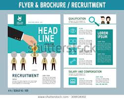 Recruitment Brochure Template Recruitment Flyer Design Vector Template A4 Stock Vector