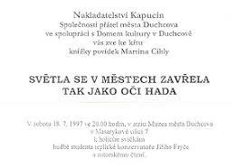 Boris M Kirpi Světla Se V Městech Zavřela Tak Jako Oči Hada 1995