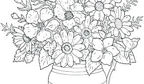 Free Color Pages Of Flowers Coloring Pages With Flowers Coloring