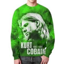 """<b>Мужские свитшоты</b> c уникальными принтами """"kurt cobain"""" - <b>Printio</b>"""