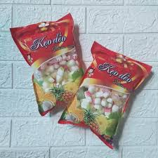 Kẹo gôm dẻo bọc áo đường mix vị hoa quả - gói 300gram (KẸO NGON ĐÓN TẾT)  giảm chỉ còn 17,999 đ