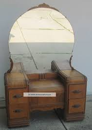 antique vanity table with skirt