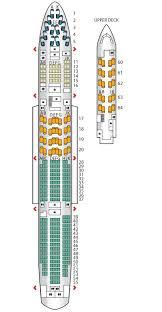 Lufthansa Airlines 747 Seating Chart Seat Plan For The Britishairways B747 400 Mid J British