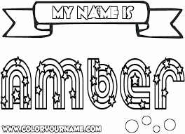 Small Picture Best Solutions of Coloring Pages Of My Name With Summary Sample