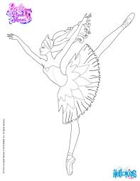 Small Picture Barbie is dancing with the pink shoes coloring page More Barbie