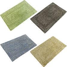 100 cotton two tone chenille loop bath mat bath rug 50x80 cm in 4 colours
