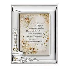 Silber Bilderrahmen Für Foto Geschenkidee Zur Taufe Für Kind