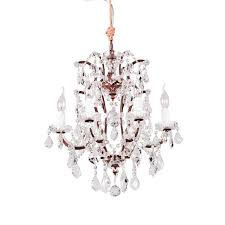 crystal chandelier small antique rust