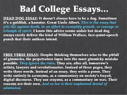 college essay copy bad college essays