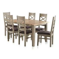 extending dining table oak st natural oak and grey painted extending dining table 6 fabric chairs oak round oval extending dining table
