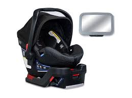 britax b safe ultra cool flow collection infant car seat with back seat mirror