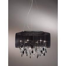 kolarz paralume crystal chandelier ceiling light black