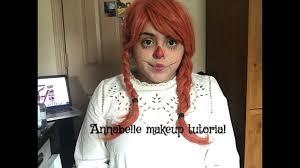 annabelle raggedy ann doll makeup tutorial