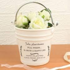 personalised porcelain flower bucket