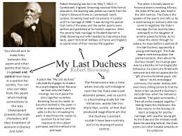 about my last duchess by robert browning essay about my last duchess by robert browning