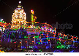 fantastic lighting. the fantastic lighting of kek lok si temple; penang, malaysia - stock photo n