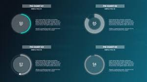 Infographics Simple Pie Charts V2 After Effects Templates